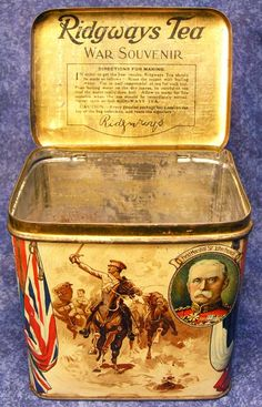 Boer War tea souvenir tin. Follow link for some fascinating information on tins.