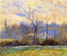 """ Sunset, Winter Camille Pissarro - circa 1885 """