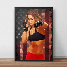 Ronda Rousey UFC Poster by TroutLifeStudio on Etsy