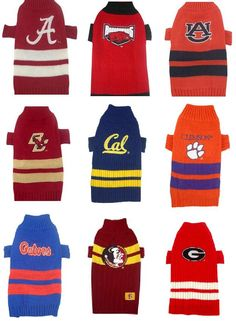 4bc0a23a5 Dog Sweaters Collegiate - NCAA Game Day Knitted Dog Sweater Pattern