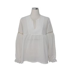 Today's Hot Pick :Flounce Lace-Trimmed Boho Blouse http://fashionstylep.com/P0000DXY/pushpush7023/out Exquisite fashion in its simplest form. This blouse features a v-cut neckline, paneled long sleeves, empire silhouette, seam designs, scalloped cuts, and a relaxed fit. Wear with pencil skirts, long overcoats, and black pumps.