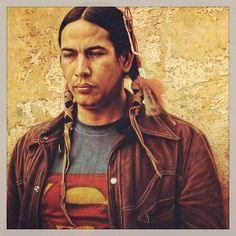 Sioux Superman. Artwork by James Bama.