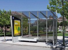 Glass / Metal bus shelter
