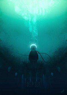 ArtStation - Deep sea suit speedpainting, Florian Aupetit
