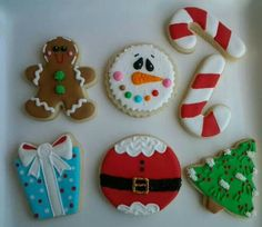 .Iced Christmas cookies