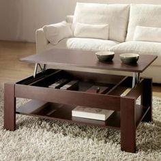Table Basse Table basse relevable Oralia Wengué -Dimensions…