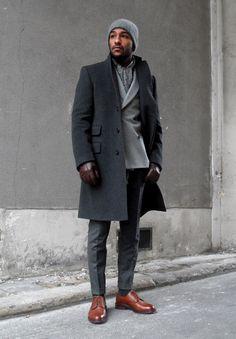 formalwear with beanie