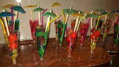 feestelijke fruitcocktail, gezonde verjaardagstraktatie groep 3