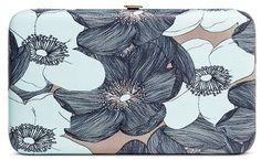 Merona® Women's Wallet Kiss Lock Clasp Blue Floral- MeronaTM