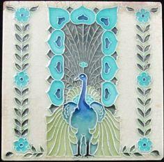 Antique English Nouveau Tile-Mintons China Works