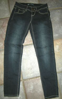 "Nobel Skinny Jeans Size 1, Dark Blue, Cotton Spandex Blend 28"" X 28"" #Nobel #SlimSkinny"
