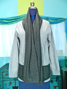 Scarf Neck Cardigan DIY Tutorial by Mark Montano- This is an interesting idea!