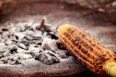"Roasted corn !! ""Bhuta"" ... Having a bhuta in the winter evening ... #Food"