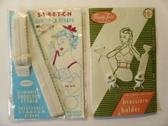 Vintage 1950's Brassiere Accessories  I had never seen the strap that goes from the bra to the waist cincher/garter. Is that to keep the bra from riding up or the garter from riding down?