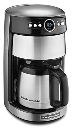 KitchenAid KCM1203CU 12-Cup Thermal Carafe Coffee Maker - Contour Silver >>> More info could be found at the image url.