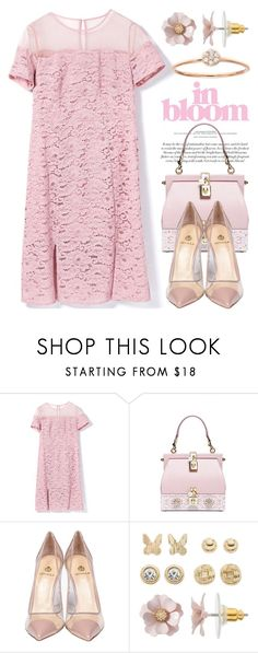 """""""Think Pink Flower Power! 3218"""" by boxthoughts ❤ liked on Polyvore featuring Dolce&Gabbana, Semilla and LC Lauren Conrad"""