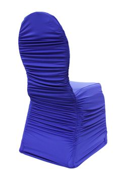 Ruched Fashion Spandex Banquet Chair Cover - Royal Blue ● As Low as $4.99 ● Available from www.cvlinens.com
