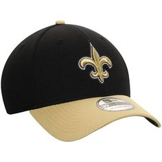 New Orleans Saints New Era Fan Training Camp Reverse 39THIRTY Flex Hat -  Black Gold 5aa18e07cb36