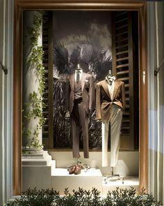 s purple label spring 2015 window 1 ral Shop Interior Design, Store Design, Beverly Hills, Wedding Window, Suit Stores, Clothing Displays, Tailor Shop, Ralph Lauren, Shop Front Design
