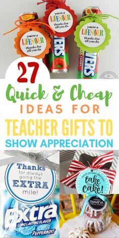 Creative and Insanely Adorable Teacher Appreciation Gifts to the rescue! I love all these creative DIY Edible Gifts with everything from a bundt cake to gum. There