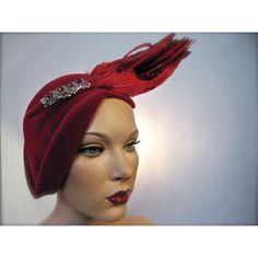 vintage 1930's couture hat by Leslie James