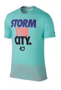 NEW NIKE KD EMPIRE STATE OF MIND SHIRT KD STORM THE CITY SHIRT 689499-385 XXL #NIKE #BasicTee