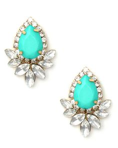 Love these minty turquoise earrings. Classy with a Minty Twist
