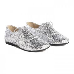 Sparkly Brogues - Silver - Shoes - Accessories #nutcracker #snowqueen #christmas #party #ilovegeorgeousfaves
