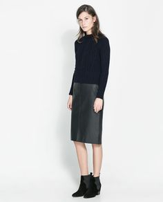 Image 1 of RIBBED CABLE KNIT SWEATER from Zara