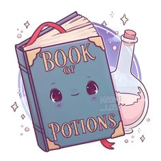 ✨ 🧪 book of potions! 🧪 ✨ what book would y'all like to see n Fanart Harry Potter, Images Harry Potter, Arte Do Harry Potter, Harry Potter Stickers, Cute Harry Potter, Harry Potter Bedroom, Harry Potter Artwork, Harry Potter Drawings, Harry Potter Wallpaper