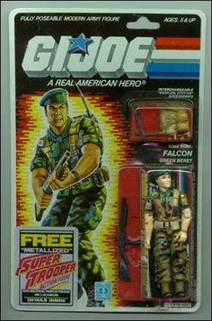 Falcon. The last G.I. Joe action figure I bought. CY 1987.