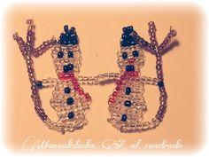 Christmas Crafts 2013: Tutorial para hacer un muñeco de nieves con abalorios.