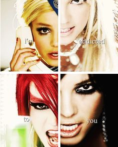 """I'm addicted to you."" - Lyrics from Toxic by Britney Spears 2003"