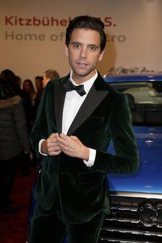 Mika Wears Stunning Green Velvet Suit to Audi Night 2015
