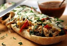 Open-Faced Chipotle Chicken Torta
