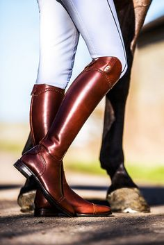 Secchiari Cognac Calfskin Boots - Made to Measure Horse Riding Boots, Riding Hats, Riding Helmets, Riding Clothes, Riding Gear, Horse Tack, Cowgirl Boots, Western Boots, Equestrian Boots