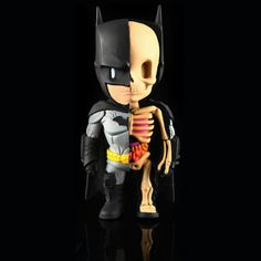 See Batman like you've never seen before. This all new XXRay Batman figure designed by Jason Freeny and crafted by Mighty Jaxx features an dope inside view into Batman's anatomy. Standing at 4 inches
