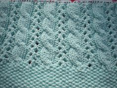 Ravelry: Cable and Lace Blanket pattern by Lee Gant