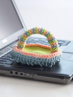 Keyboard Duster   Yarn   Free Knitting Patterns   Crochet Patterns   Yarnspirations