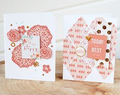 Simple Cards using On Trend, Niche and  Fancy That elements