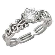 This is what my engagement ring will look like haha. Treble clef <3