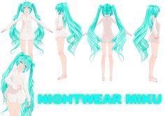 TDA nightwear miku MMD DOWNLOAD by VanillaBear3600