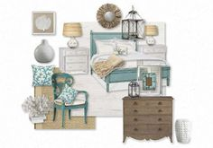 Beachy Cottage--this site is like polyvore, but for the house!