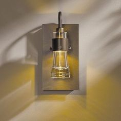 Hubbardton Forge Erlenmeyer Wall Sconce Shade Color: Gold Bubble, Finish: Mahogany