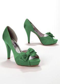 Amazon.com: David's Bridal Satin Peep Toe Platform High Heel with Bow Style Maribelle: Shoes