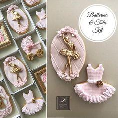 Lorena Rodríguez. Ballerina cookies. Baby shower cookies. #pinkballerina #pinkcookies #ballerina #balletcookies #tutu #tutucookies… Pink Cookies, Fondant Cookies, Baby Cookies, Baby Shower Cookies, Royal Icing Cookies, Sugar Cookies, Ballerina Birthday Parties, Ballerina Party, Ballet