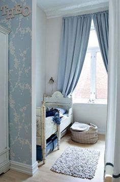 Charming French nursery in blue. #kids #nursery