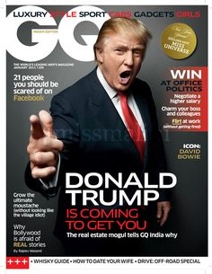 We've noted the history of Donald Trump's image in New Yorktabloids, but it'sthe glossy magazines that tend to portray Trump the way he wants his public persona to be seen -- and in the last decade, that's meant a loud, rich, rap star-playboy-CEO.