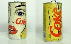 I love this lichensteinesque coke can