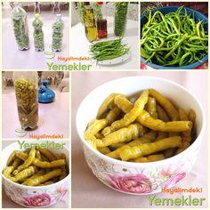 yağlı kıl biber turşusu Lassi, Kimchi, Turkish Recipes, Ethnic Recipes, Appetizer Salads, Winter Food, Pickles, Yummy Food, Homemade